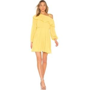 Revolve Endless Rose Yellow One Shoulder Dress M